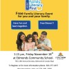 Free Family Literacy Event