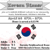 Sharing Cultures – Korean Dinner