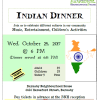 South House Indian Sharing Cultures Dinner October 25