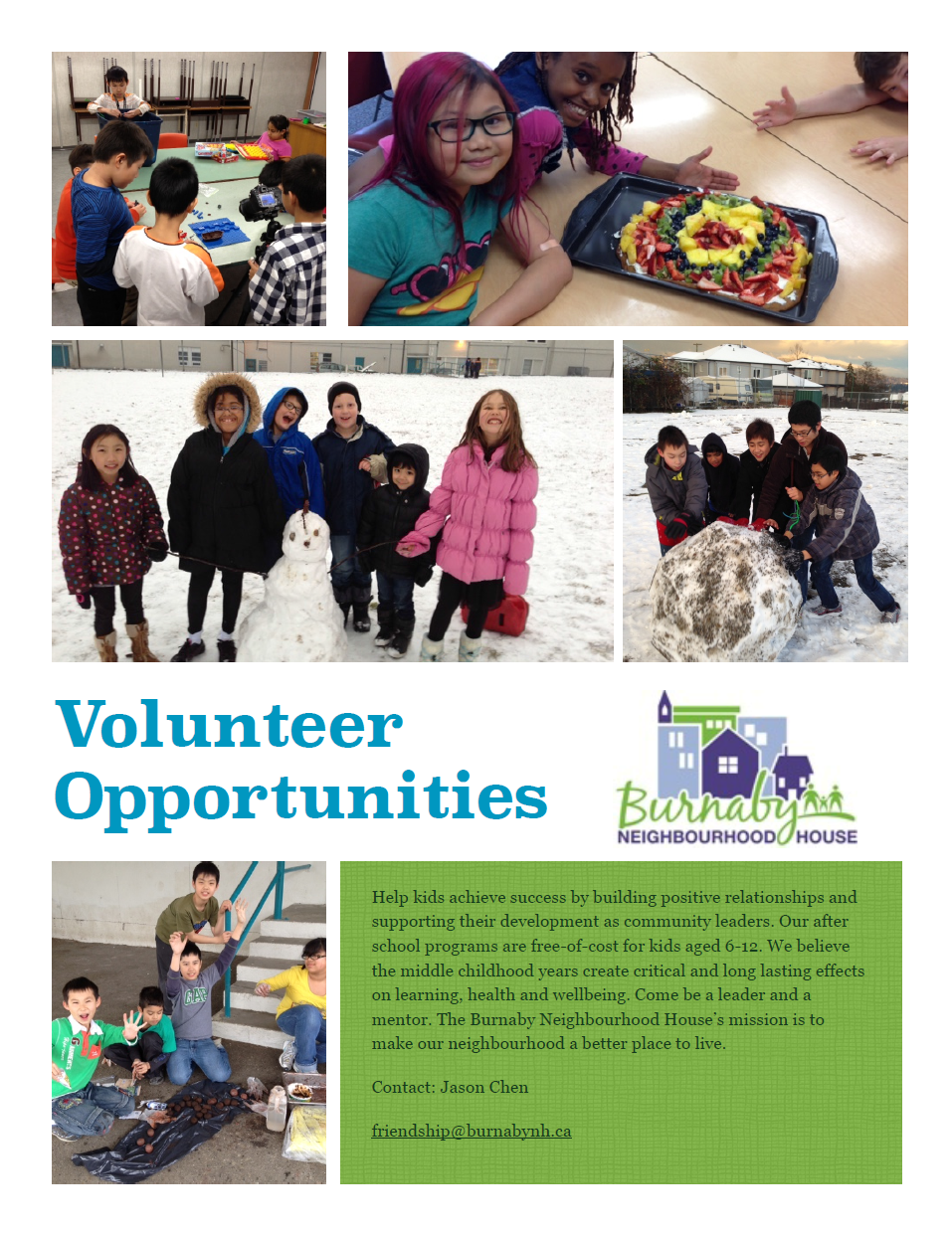 After School Programs Volunteer Poster