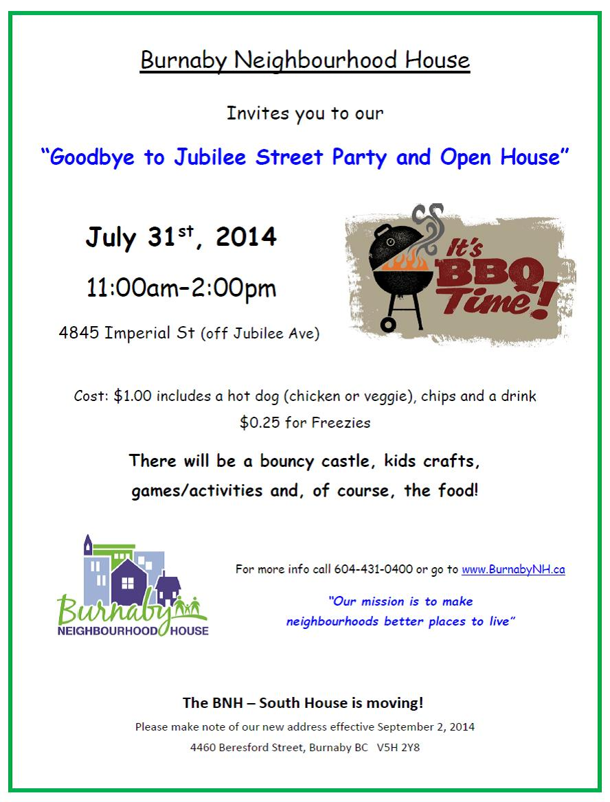 BNH Street Party and Open House Invite-2014