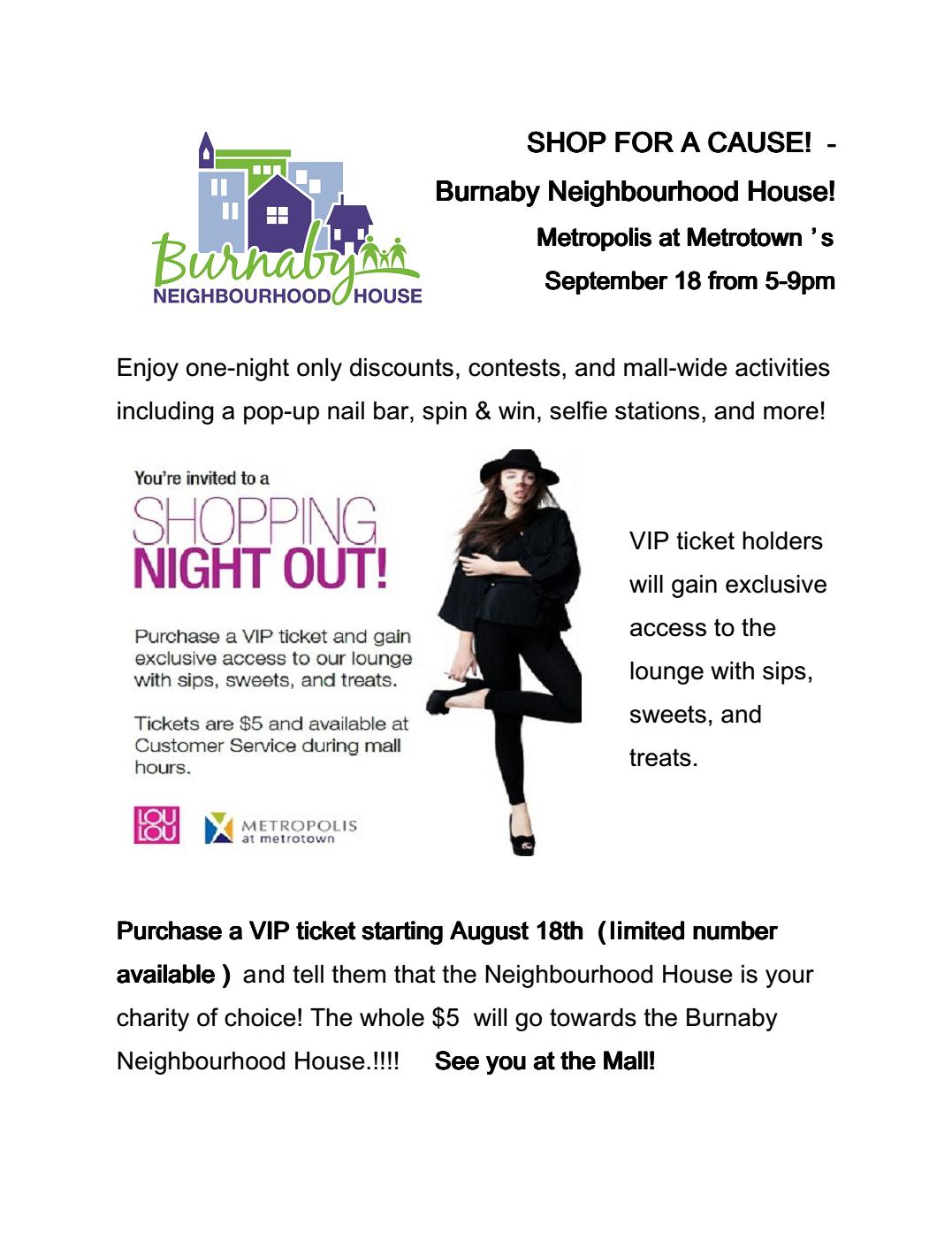 BNH Shop for a Cause