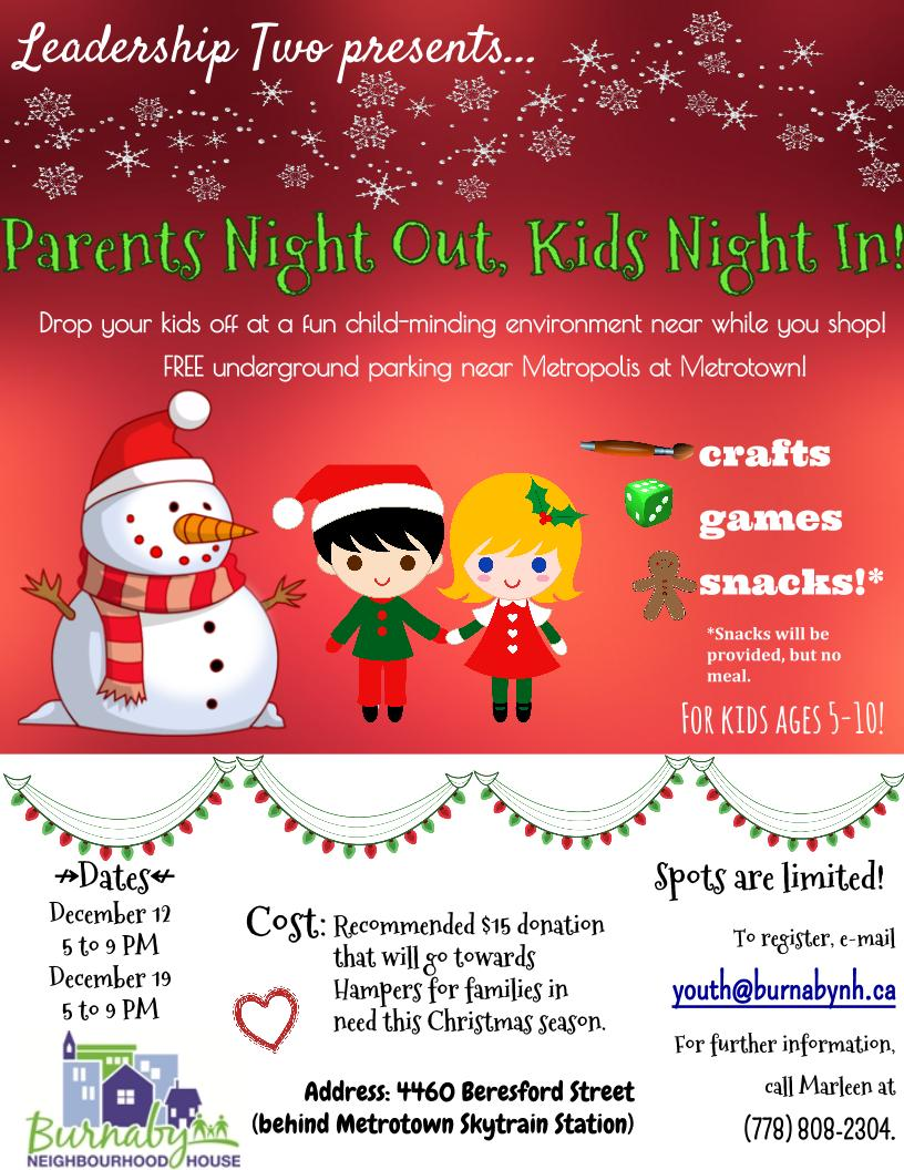 Parents Night Out Kids Night In