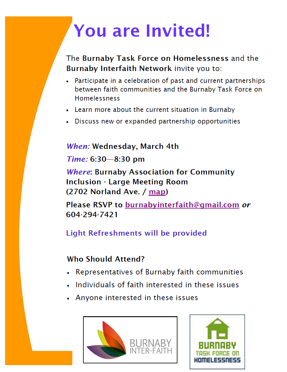 Burnaby Task Force and Burnaby Interfaith