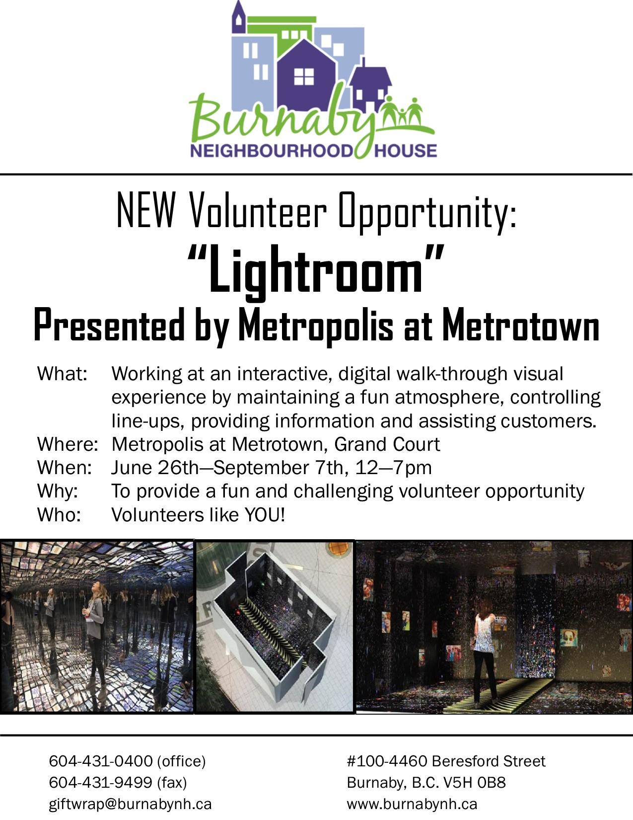 Volunteers Needed for Lightroom