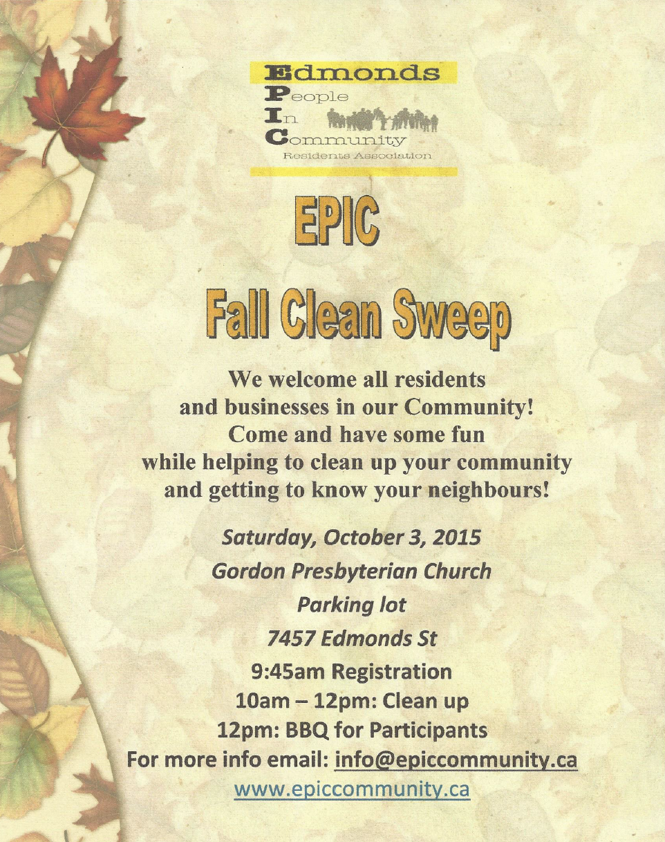 EPIC - Fall Clean Sweep 2015