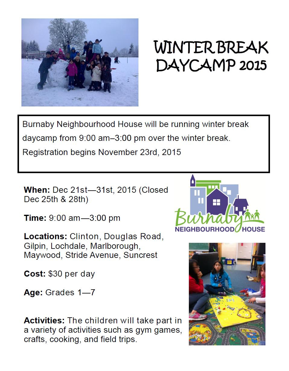 Winter Break Daycamp Poster-2015