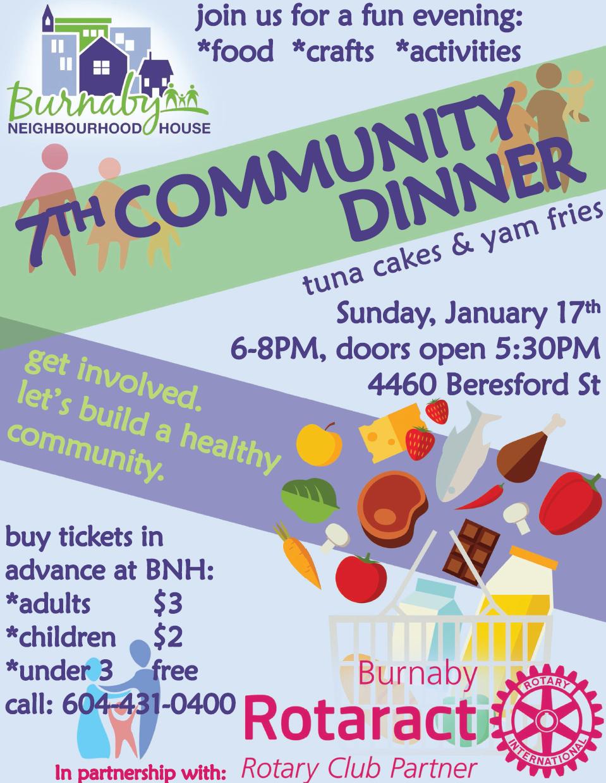 Rotaract Community Dinner-Jan-2016