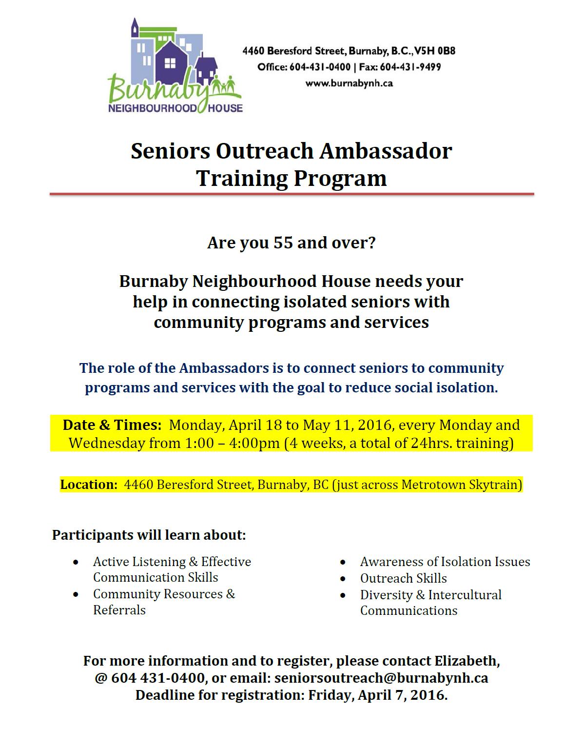 Seniors Ambassadors Training-2016-Final