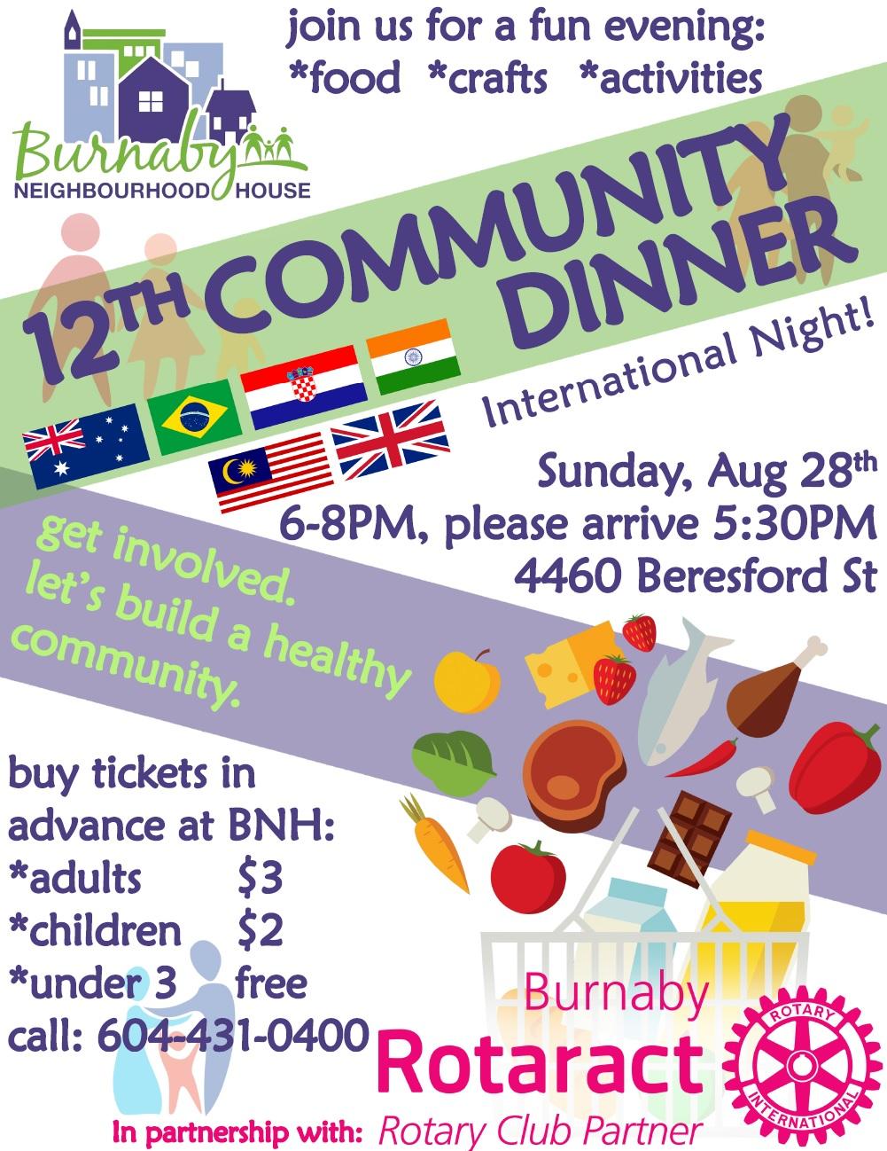 Community Dinner Poster 2016-08Aug