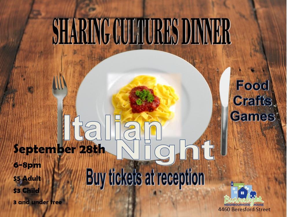 Sharing Cultures - Italian Dinner