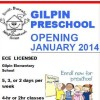 Gilpin Preschool Openning January 2014