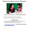 Adults Literacy Volunteer Tutors Needed