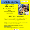 Sleep and your child's energy- a free presentation