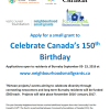 Apply for a small grant to  Celebrate Canada's 150th Birthday