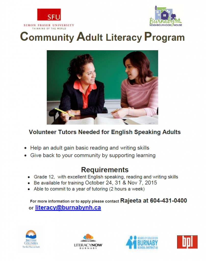 adult literacy and community development The division of adult education also oversees high school equivalency testing in pennsylvania and provides professional development for adult education and family literacy program staff, including training for volunteer tutors of adult education.